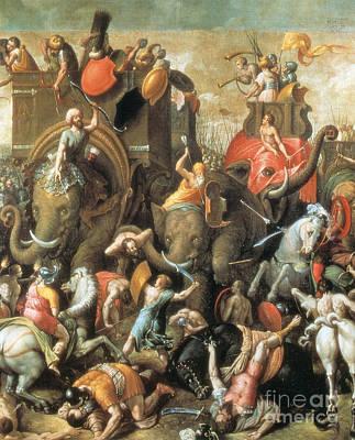 Battle Of Zama Hannibals Defeat Print by Photo Researchers