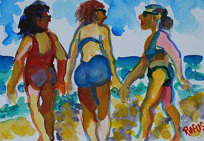 Painting - Beach Trio by Rufus Norman