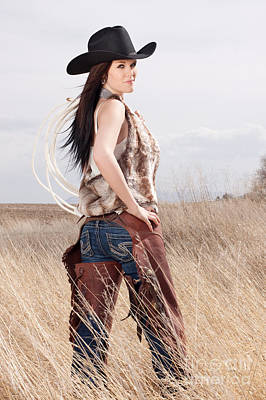 Portrait Photograph - Beautiful Cowgirl by Cindy Singleton