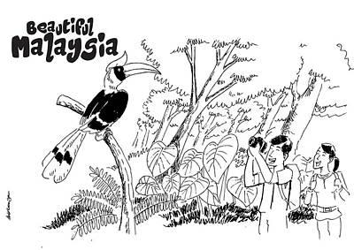 Hornbill Digital Art - Beautiful Malaysia  2 by Abd Rahim