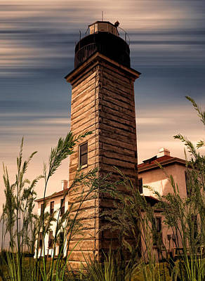 Beavertail Lighthouse Print by Lourry Legarde