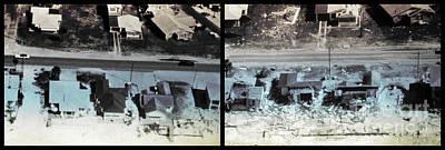 Before And After Hurricane Eloise 1975 Print by Science Source