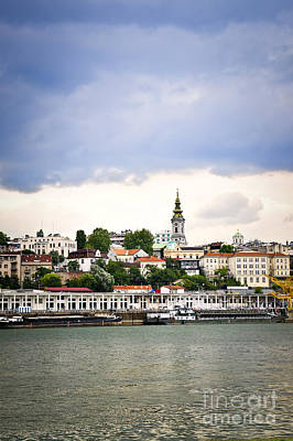 Riverfront Photograph - Belgrade Cityscape On Danube by Elena Elisseeva