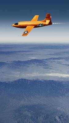 Bell X-1 Supersonic Aircraft Print by Detlev Van Ravenswaay