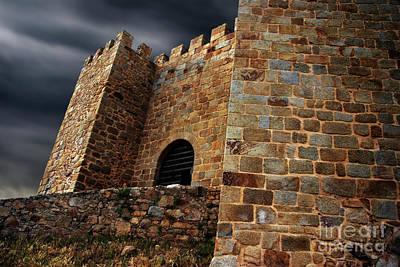 Belver Castle Print by Carlos Caetano
