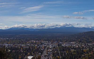 Bend Oregon From Pilot Butte Print by Twenty Two North Photography