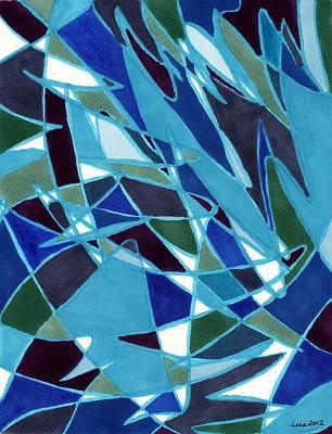 Blue Blaze Print by Lesa Weller