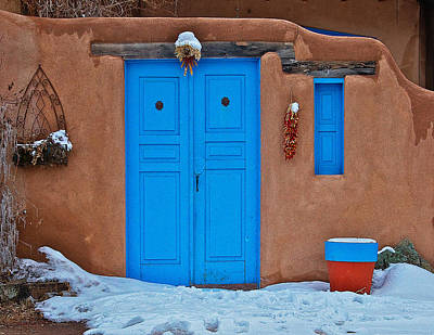Blue Gate On The Plaza Print by Charles Muhle