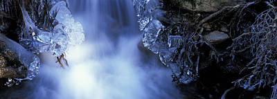 Blue Icy Waterfall Print by Ulrich Kunst And Bettina Scheidulin