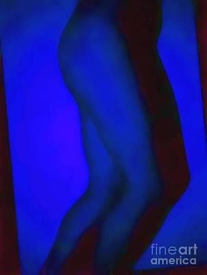 Blue Legs Print by J erik Leiff
