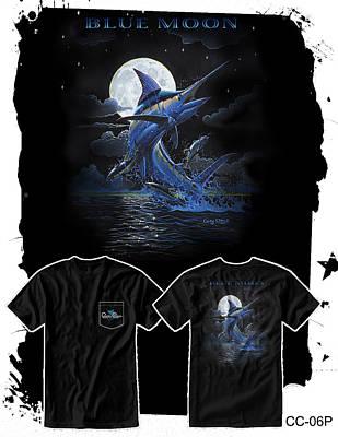 Swordfish Digital Art - Blue Moon by Carey Chen