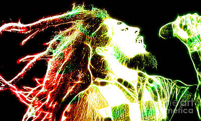 Bob Marley Print by The DigArtisT