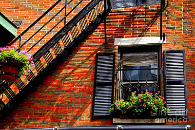 Brick Buildings Photograph - Boston House Fragment by Elena Elisseeva