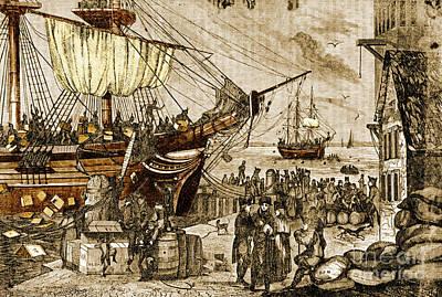 Boston Tea Party, 1773 Print by Photo Researchers
