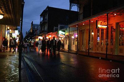 Bourbon Street At Dusk Print by Thomas R Fletcher