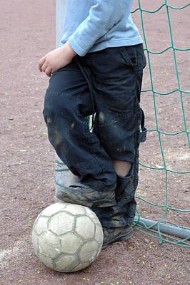 Goalkeeper Photograph - Boy With Soccer Ball by Matthias Hauser