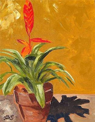 Painting - Bromeliad Vriesea by Maria Soto Robbins