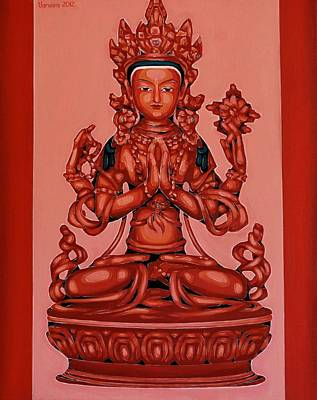 Buddha Of Compassion Print by Varvara Stylidou