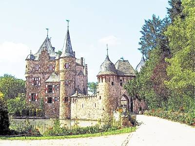 Burg Satsvey Germany Print by Joseph Hendrix