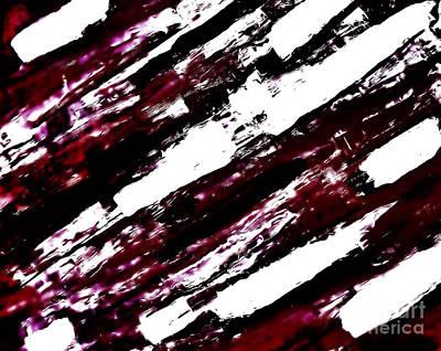 Burgundy Abstract Print by Marsha Heiken
