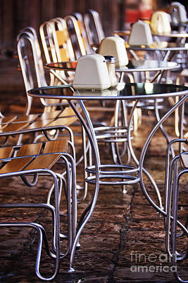 Dining Out Photograph - Cafe Tables And Chairs by Jeremy Woodhouse