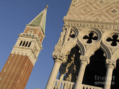 Campanile. Plazza San Marco. Venice Print by Bernard Jaubert