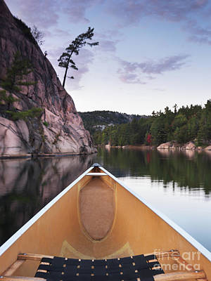 Nature Photograph - Canoeing In Ontario Provincial Park by Oleksiy Maksymenko