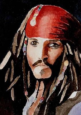 Jack Sparrow Painting - Capt Jack Sparrow by Chris Martinez