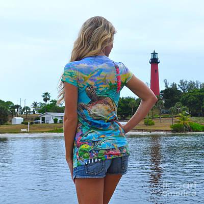Lighthouse Digital Art - Carey Chen Ladies Clothing by Carey Chen