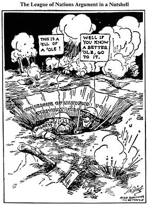 Cartoon: League Of Nations Print by Granger