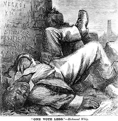 Cartoon: Reconstruction Print by Granger