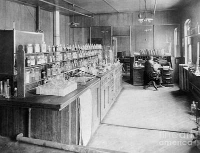 Early 1900s Photograph - Chemists Laboratory by Science Source