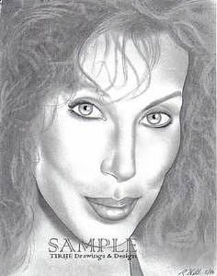 Tattoo Stencils Drawing - Cher by Rick Hill