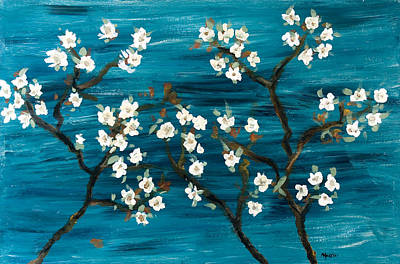 Cherry Blossoms Print by Gretchen Martini