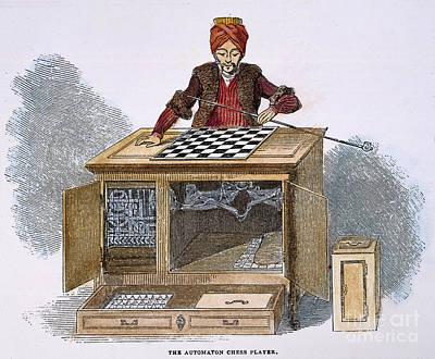 Chess: Automaton, 1845 Print by Granger