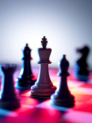 Chess Pieces Print by Tek Image