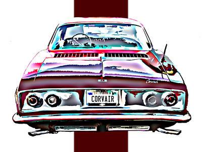 Chevy Corvair Rear Study Print by Samuel Sheats