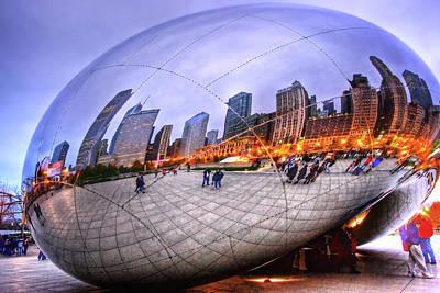 Chicago Bean Print by Mark Currier