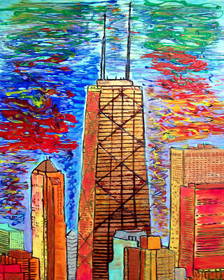 Chicago John Hancock Building Print by Char Swift