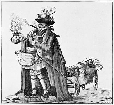 Cholera Prevention, Satirical Artwork Print by