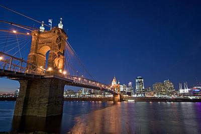 Roebling Bridge Photograph - Cincinnati Skyline by Russell Todd