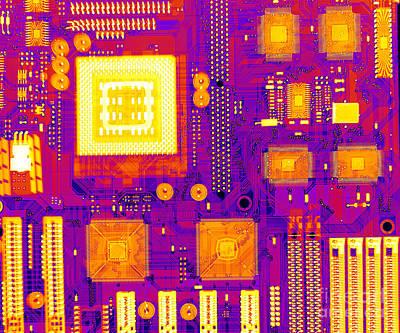 Circuit Board Print by Ted Kinsman