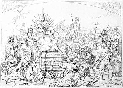 Civil War Cartoon, 1862 Print by Granger