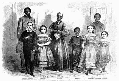 Civil War: Freed Slaves Print by Granger
