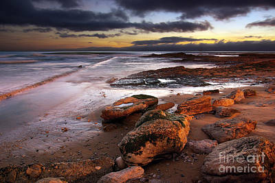 Background Photograph - Coastline At Twilight by Carlos Caetano