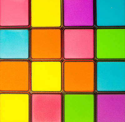 Mosaic Photograph - Colorful Background by Tom Gowanlock