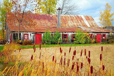 Falltime Photograph - Colorful Barn ... by Juergen Weiss