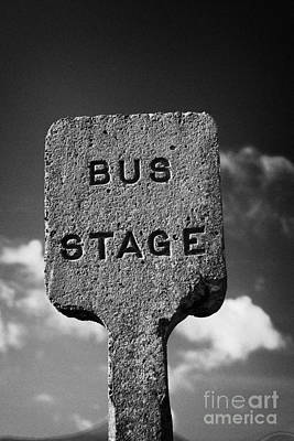 Concrete Northern Ireland Road Transport Board 1935 1948 Bus Stage Stop Road Sign Print by Joe Fox