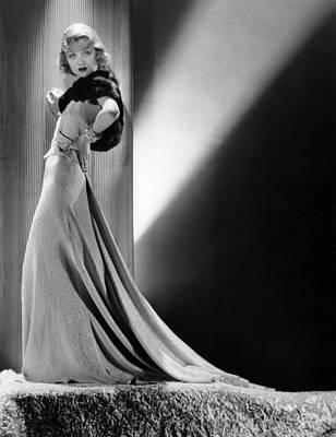 Gold Lame Photograph - Constance Bennett, Circa 1930s by Everett