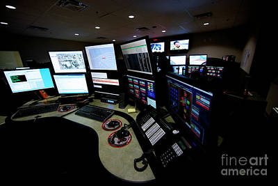 Control Room Center For Emergency Print by Terry Moore